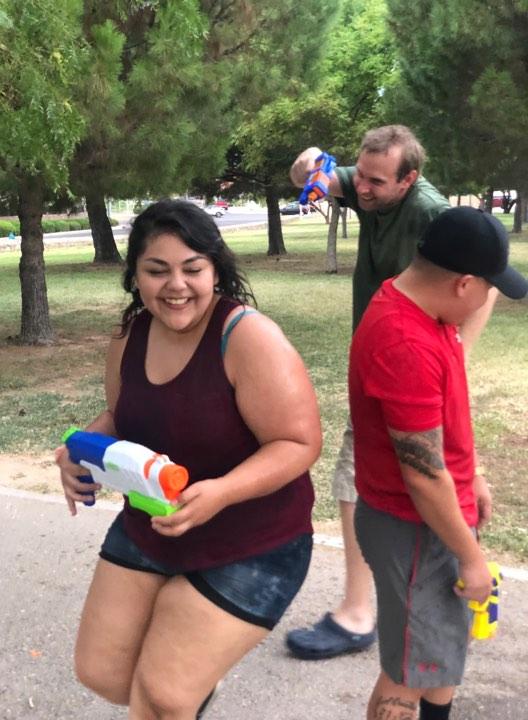 Staff Water Fight